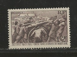 France 1941 Mint Hinged Stamp(s) Winter Relief Fund Nrs. 509 #13035 1 Value Only - France