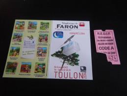 Toulon - ticket TELEPHERIQUE - MONT FARON + Carte horaires
