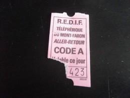 Toulon - ticket TELEPHERIQUE - MONT FARON