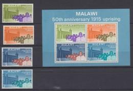 Malawi  1965  1915 Rising    * MVLH + Miniature Sheet *** MNH - Malawi (1964-...)