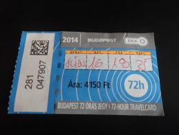 BUDAPEST  HONGRIE - pass 3 jours bus tramways