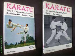"""""""KARATE"""" (2 Band) Albrecht PFLÜGER Sport Kampfsportarten Arts Martiaux Martial Art FALKEN 1969 ! - Sport"""