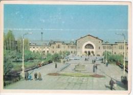 Moldova  ; Moldavie ; Moldau ; 1974 ; Chisinau  ; Railway Station ;  Postcard - Moldova