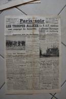 PARIS-SOIR du 23 avril 1940-la R.A.F. continue a pilonner Stavanger et Aalborg