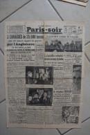 PARIS-SOIR du 21 janvier 1940-prisonniers russes en Finlande-bataille redouble secteur Salla