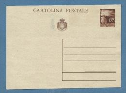 CARTOLINA POSTALE LUOGOTENENZA L.1,20 FIACCOLA - NUOVA SPLENDIDA - 4. 1944-45 Repubblica Sociale