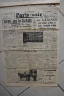PARIS-SOIR -6 mai 1940-allemands refoules nord-est Narvik-alerte dans balkans-finale coupe france