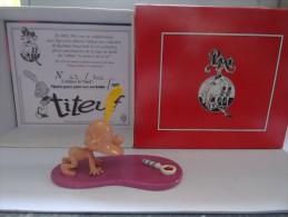 PIXI 5851 TITEUF A QUATRE PATTES AVEC SON HOCHET NEUF DANS SA BOITE D'ORIGINE CERTIFICAT 69/500 - Figurines