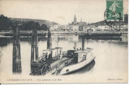 CAUDEBEC-EN-CAUX. - Vue Générale Et Le Bac. - Caudebec-en-Caux