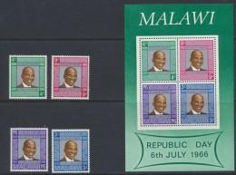 Malawi  1966  Republic Day *  MVLH  Miniature Sheet  *** MNH - Malawi (1964-...)