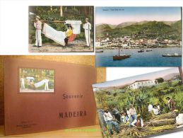"""""""SOUVENIR MADEIRA"""" 12 Photo Couleur Ile Island Madere Funchal Portugal Ca 1930 ! - Exploration/Voyages"""