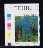 FRANCE 2011 N°YT 551** (4542)-un Timbre - Odilon Redon Autocollant Adhésif  CDF Couleurs Texte - KlebeBriefmarken
