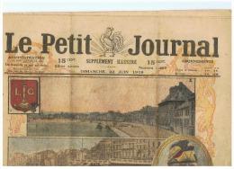 Le Petit Journal - 22/06/1919 Li�ge, l'h�ro�que ville belge d�cor�e de la L�gion d'Honneur - Guerre 14/18 (f16)