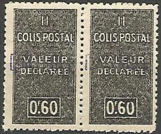 ALGERIE COLIS POST YVERT  N� 55 / MAURY N� 67  VARIETEE SUR  6 DE 60 NEUF** TTB / MNH