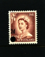 NEW ZEALAND - 1958  PROVISIONAL (WITHOUT STARS)   MINT NH - Nuova Zelanda