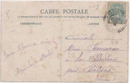La Nouvelle Anné (Bergeret) - 1905 -- Cachet Perlé De PAYROUX (Vienne) Indice 4 (70984) - Bergeret