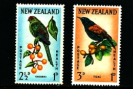 NEW ZEALAND - 1962  BIRDS  SET  MINT NH - Nuova Zelanda
