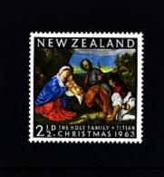 NEW ZEALAND - 1963  CHRISTMAS  MINT NH - Nuova Zelanda