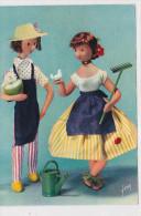 CPM LES AMOUREUX DE PEYNET-1960-le Jardinier Et Mlle Jonquille- Grand Format - Peynet