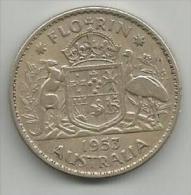 Australia Florin 1953. - Monnaie Pré-décimale (1910-1965)