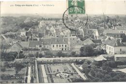 CREPY EN VALOIS - 60 - VUE GENERALE De La Ville Avec Jardin En 1er Plan - ENCH - - Crepy En Valois