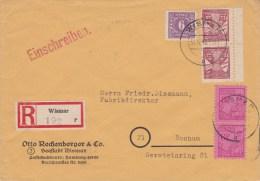 31.12.45 SELTENE MiF. GEPRÜFT. R.-Brief Wismar/Bochum. MK - Sowjetische Zone (SBZ)