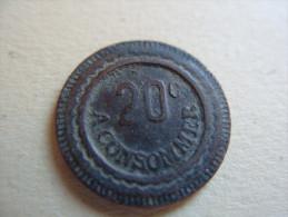 Jeton 20 Centimes à Consommer - France