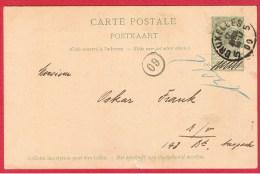 BELGIQUE  //   Carte Postale  //   Départ Bruxelles  //  17/04/1900 - Cartoline [1871-09]