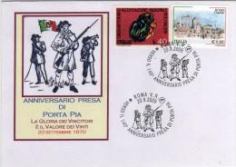 Italia 2009 Annullo Roma 140° Anniversario Presa Di Porta Pia Bersaglieri Busta Speciale - Altri