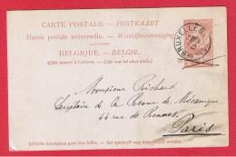 BELGIQUE  //   Carte Postale  //  De Bruxelles   //   Pour Paris   //  11/4/1899 - Cartoline [1871-09]