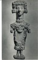 POSTAL   ARTE  CARTAGINÉS  - LA DAMA DE IBIZA  -TERRACOTA PÚNICO - MUSEO ARQUEOLOGICO NAC. -MADRID - Museos