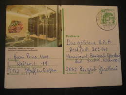 Gemmrigheim 1980 to Bergisch Gladbach PALEONTOLOGY Aalen Museum geological geology postal stationery card Germany