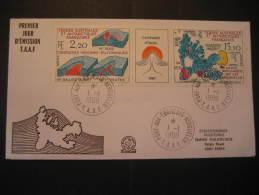 Port Aux Fran�ais Kerguelen 1988 volcano geological geology cancel cover fdc TAAF Antarctic Antarctics South Pole Polar