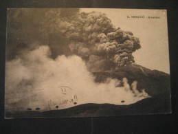 Napoli 1925 to Barcelona Spain VESUVIO volcano geological geology post card Italy Italia