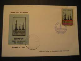 Quito 1972 petroleum oil geological geology cancel cover fdc Ecuador