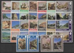 Gibraltar (1971) Yv. 239/70   /  Tourism - Heritage - Patrimonio - Art - Architecture - Museums - Architectuur
