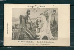 GAND: De Drie Zustersteden,  Gelopen Postkaart  (GA14676) - Gent