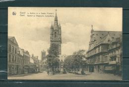 GAND: Le Boffroi Et Le Théatre Fiamand,  Gelopen Postkaart 1934 (GA14701) - Gent