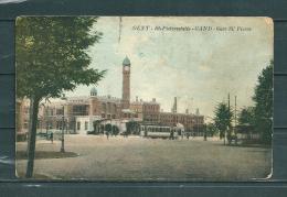GAND: St Pieterstatie,  Gelopen Postkaart 1927 (GA14709) - Gent