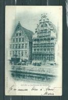 GAND: Les Maisons Des Bateliers,  Gelopen Postkaart 1909 (GA14764) - Gent