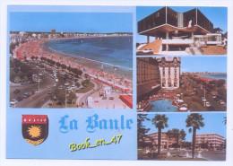 """{64819} 44 Loire Atlantique La Baule , Multivues ; La Plage , L' Hôtel De Ville , La Piscien De """"l' Hermitage """" - La Baule-Escoublac"""
