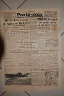 PARIS-SOIR -3 mars 1940-Hitler re�oit M.summer Welles-Viborg attaque de 3 cotes a la fois