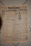 PARIS-SOIR -2 mars 1940-le prince Aage de Danemark meurt subitement au Maroc