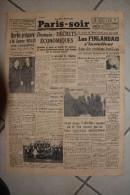 PARIS-SOIR-29 fevrier 1940-les finlandais s'installent dans positions fortifiees