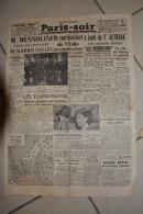 PARIS-SOIR-27 fevrier 1940-M.Mussolini re�oit M.Summer Welles