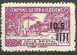 ALGERIE COLIS POST YVERT  N� 173 / MAURY N� 184a SANS CONTROLE DES RECETTES  NEUF** LUXE / MNH