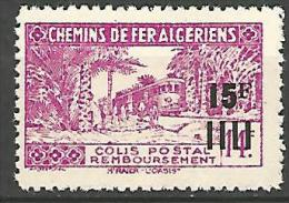ALGERIE COLIS POST YVERT  N� 177 / MAURY N� 186b SANS CONTROLE DES RECETTES  NEUF** TB / MNH