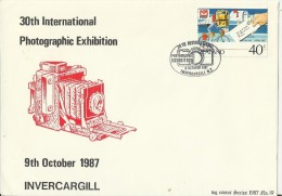 NEW ZEALAND 1987- FDC INVERCARGILL 30TH INTL PHOTOGRAPHIC EXHIBITION W 1 ST OF 40 C NR. 48 OF 120 COPIES OBL OCT 9,1987 - FDC