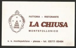 MONTEFOLLONICO Montepulciano Fattoria Ristorante LA CHIUSA Toscana Siena