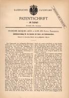 Original Patent - F.J. Grün Dans Lure , Haute Saone , 1885 , Entraînement Pour Machine à Filer , Spinning !!! - Lure